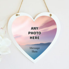 Hanging Photo on Heart Frame (email us your photo)