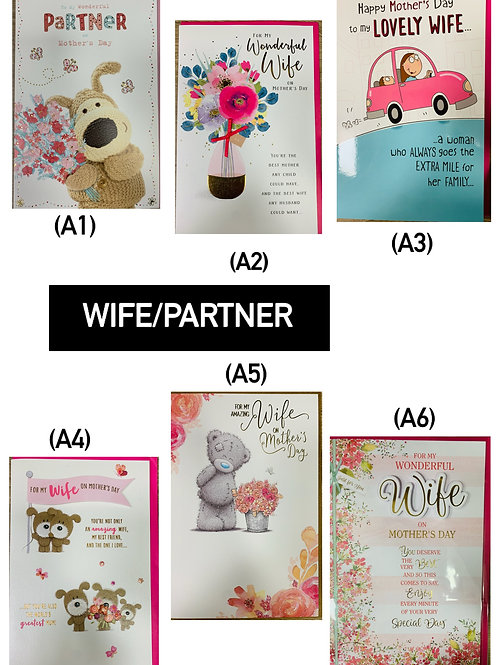 Mother's Day Cards - Wife/Partner