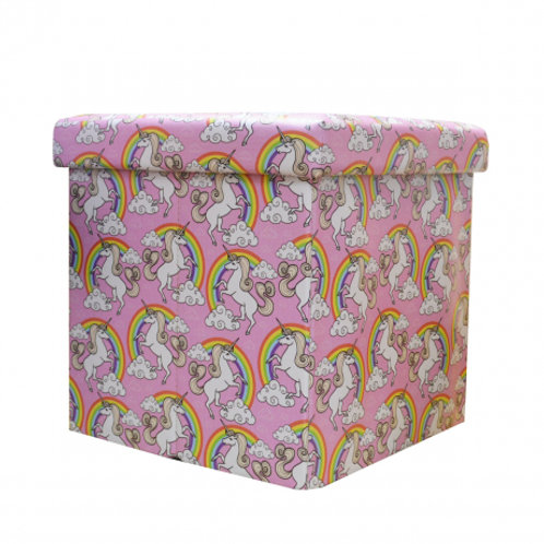Children's foldable storage box
