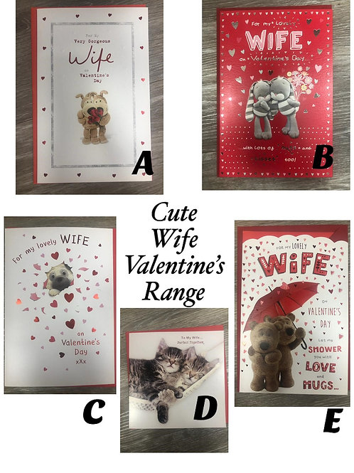 Valentines Cards - WIFE (Cute)