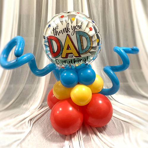 Happy Father's Day Balloon on Base