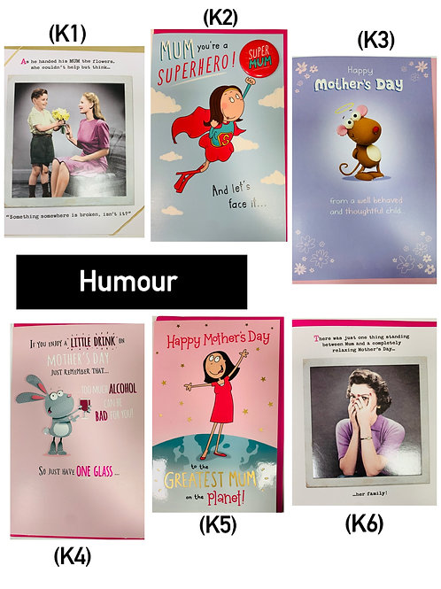Mother's Day Cards -HUMOUR