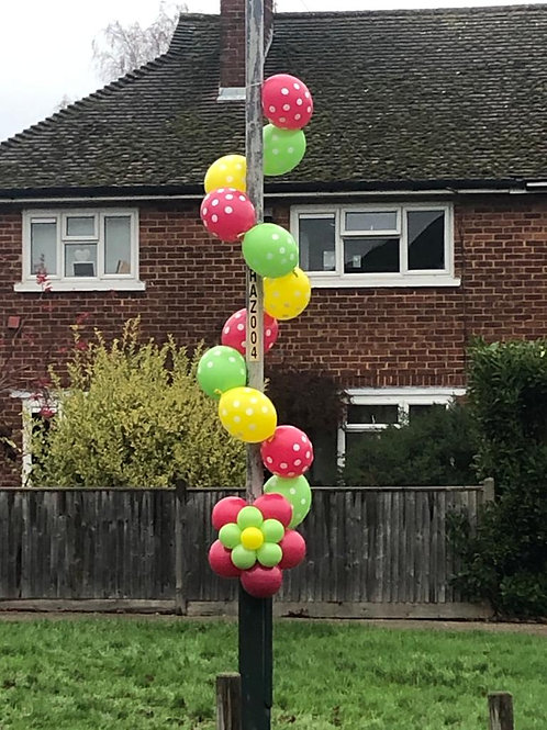 Street Lamp Balloon Decor - perfect for lockdown