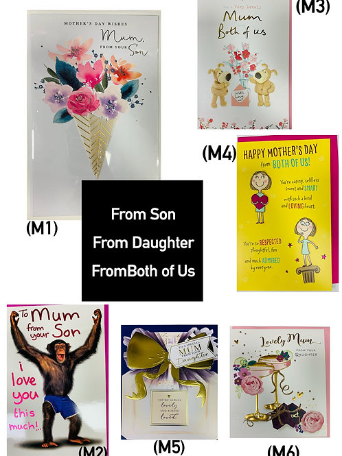 Mother's Day Cards -from SON, from DAUGHTER, from BOTH