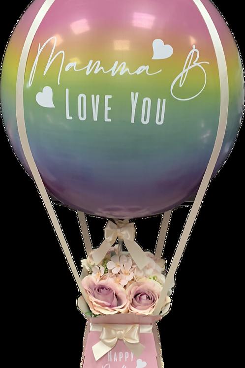 Hot Air Balloon - Pastel Rainbow