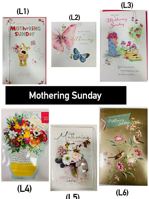 Mother's Day Cards -MOTHERING SUNDAY