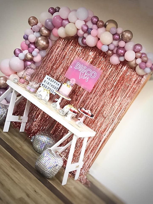 Pink Theme Organic Demi Arch