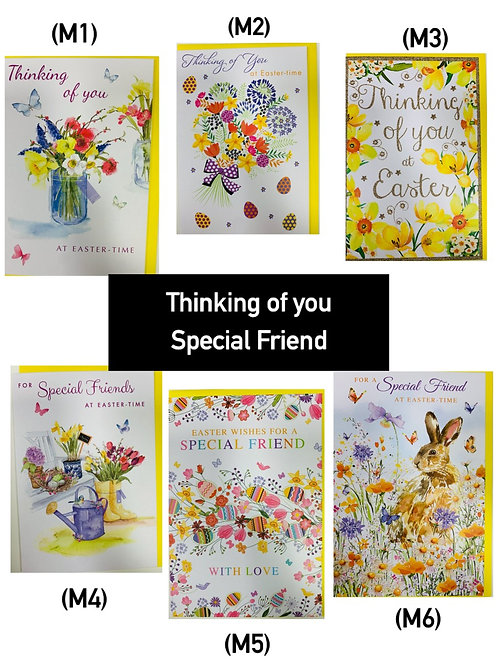 Easter Cards - Singles (thinking of you/ special friend)