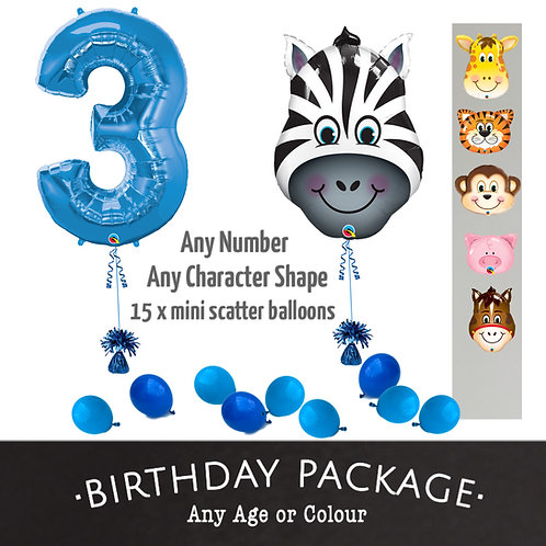 Number & Supershape - Balloon Package