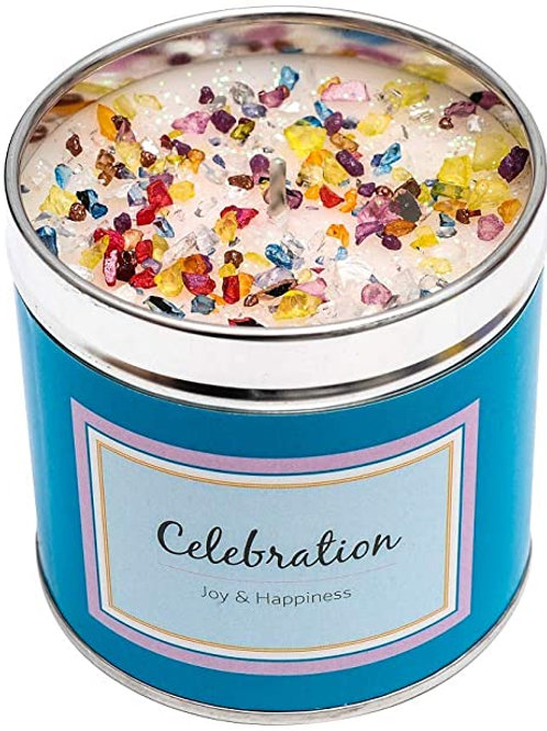 Luxury tinned candle- celebration