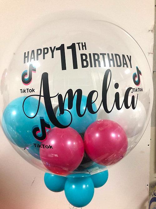"Social Media Birthday - Bubble ""Gumball"" Balloon"