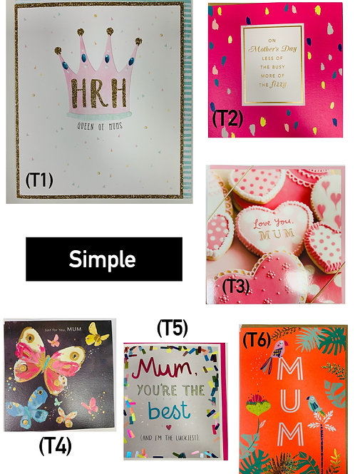 Mother's Day Cards -SIMPLE