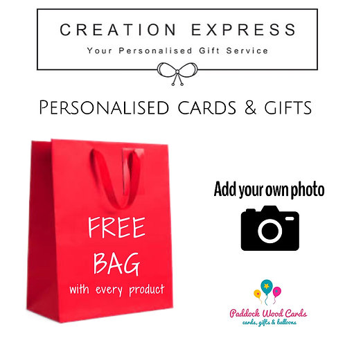 FREE gift bag with all personalised products