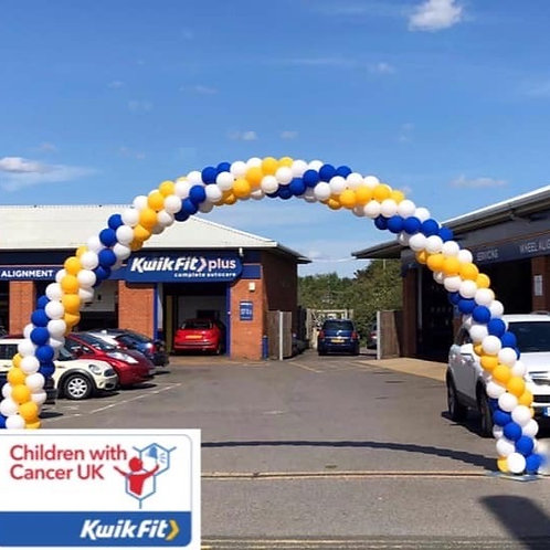 Spiral Balloon Arch - Outdoor use