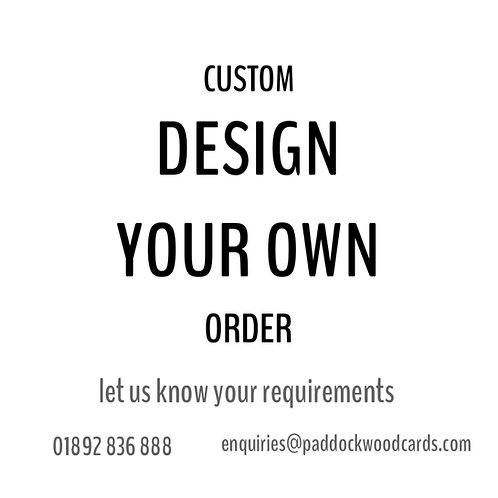 Create your own order