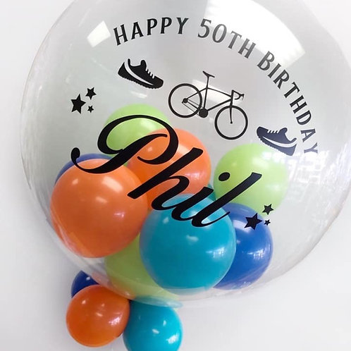 """Personalised Bubble """"Gumball"""" Balloon"""
