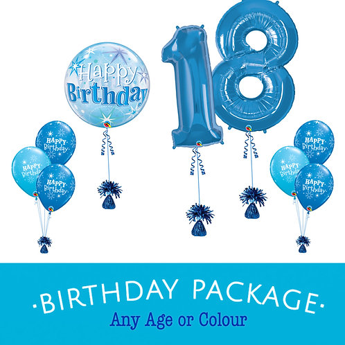 18th 21st Balloon Package (Double Digets)