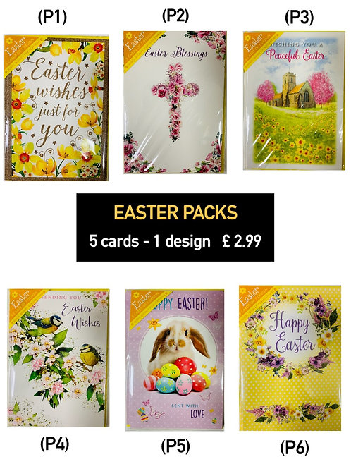 Easter Cards - Pack of 5 cards