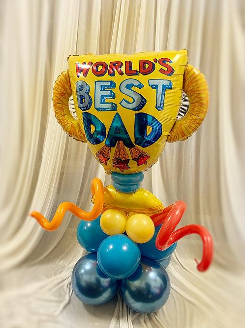Happy Father's Day Trophy Balloon on Base