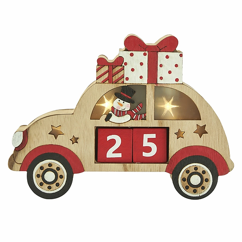 Wooden Countdown Car with lights