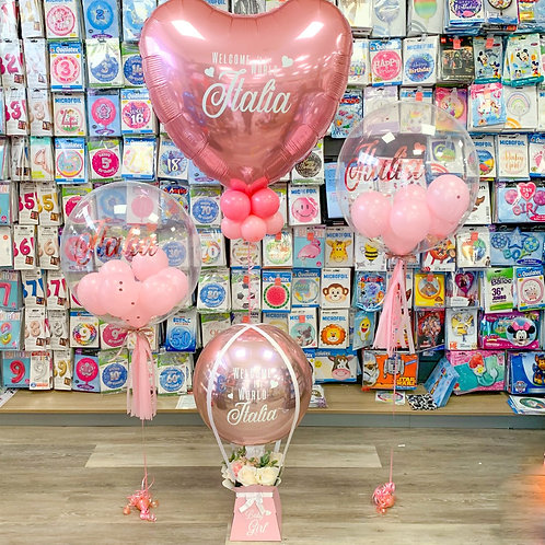 New Baby - Balloon bundle, welcome to the world (girl or boy)