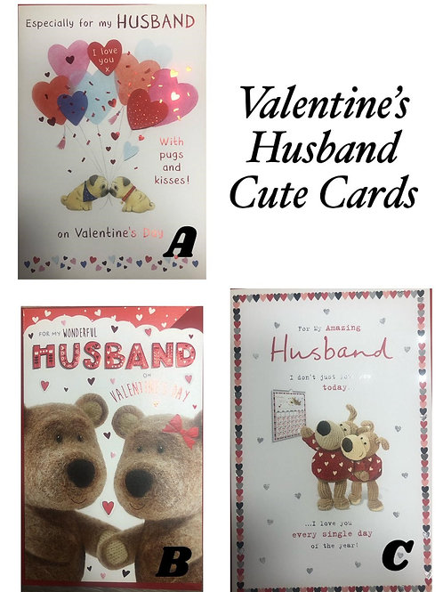 Valentines Cards - HUSBAND (Cute)