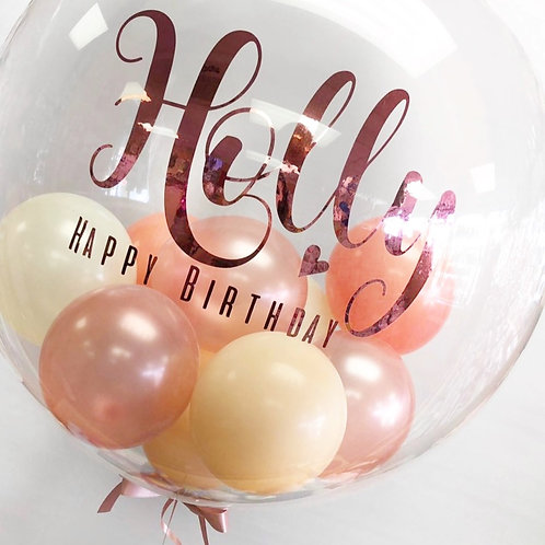 "Rose Gold - Bubble ""Gumball"" Balloon"