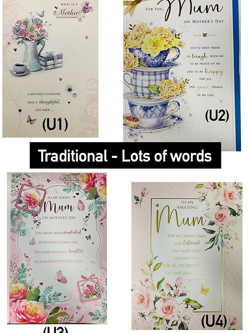 Mother's Day Cards - TRADITIONAL LOTS OF WORDS