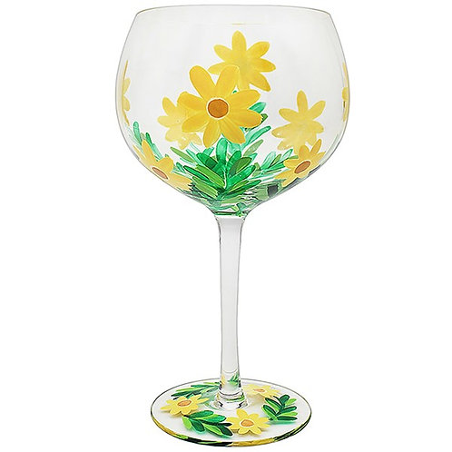 hand painted gin glass