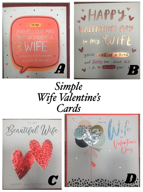 Valentines Cards - WIFE (Simple)