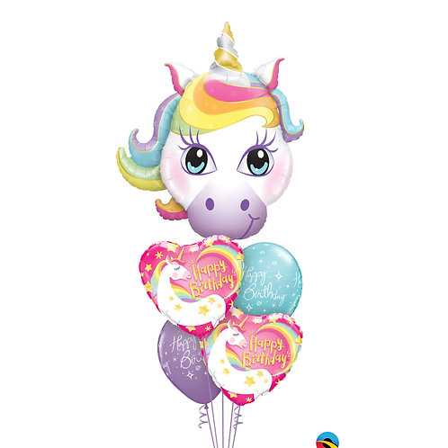 Unicorn 5 Balloon Bouquet