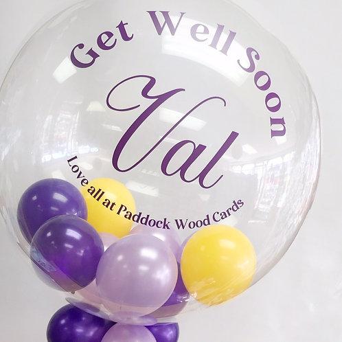 "Get Well Soon - Bubble ""Gumball"" Balloon"