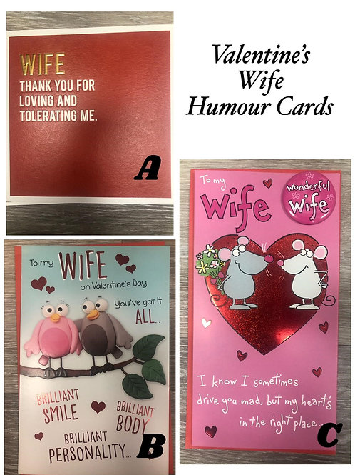 Valentines Cards - WIFE (Humour)