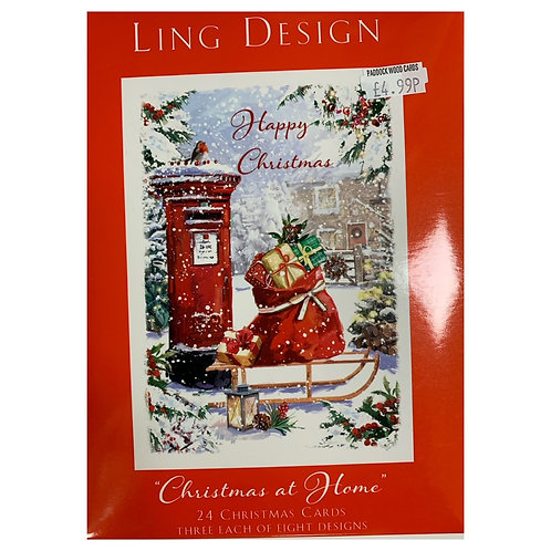 Box Cards - Christmas at Home  24 cards/8 designs