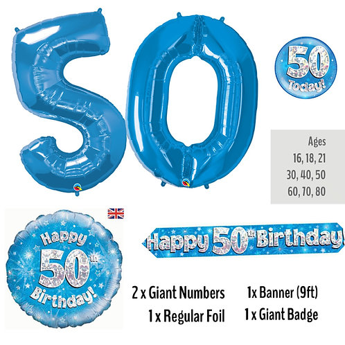 50th Birthday - Balloon Package