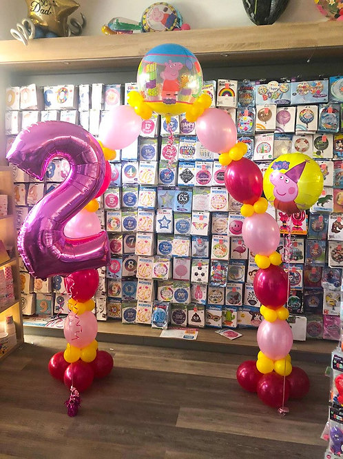 Balloon Arch Bundle - (Arch, number +foil) ANY THEME