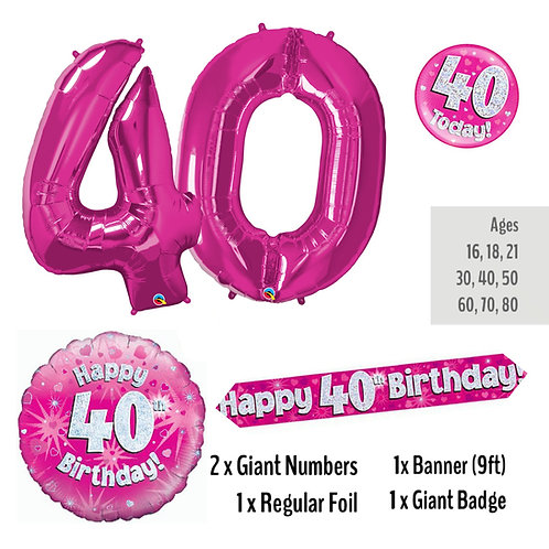 40th Birthday - Balloon Package