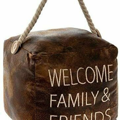 Welcome family and friends doorstop