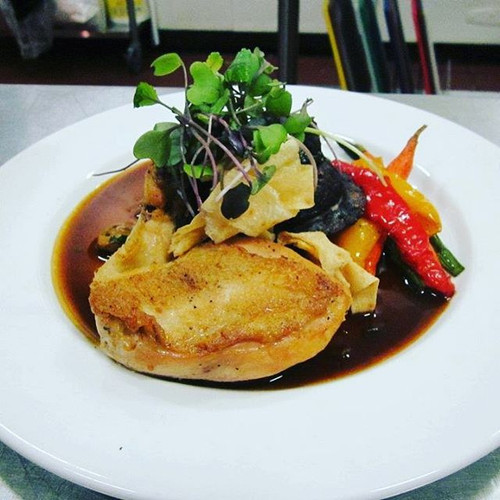 Confit Chicken Supreme with roasted red