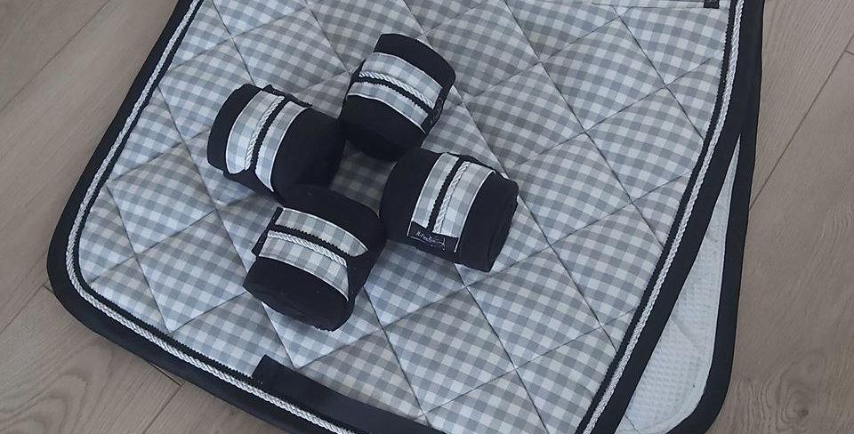 bandes vichy gris - noir