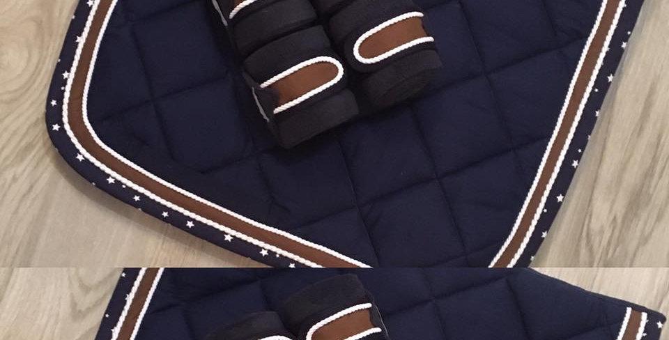 étoilé bleu et brun