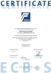 Sala Cofre Certificada ECB·S  Reconhecimento em termos de segurança