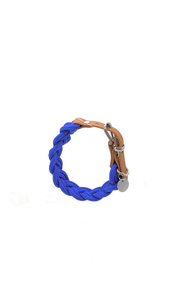 TAULIEBE - braided collar - blue tones & red tones