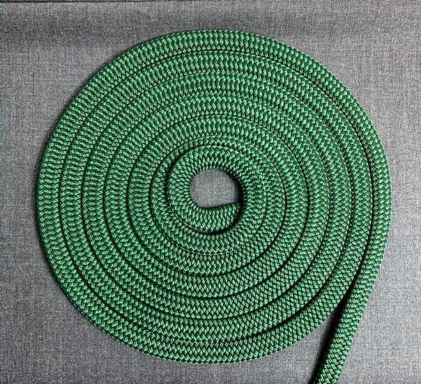 TAULIEBE - Retriever leash - dark green - FLAT ROPE