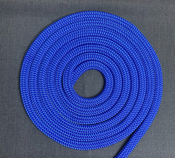 Retriever leash I flat rope - shades of blue & red
