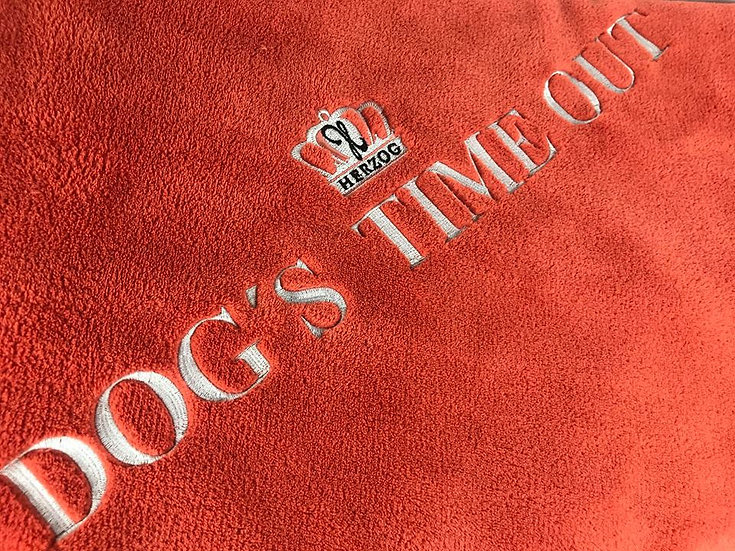 Dog's Time Out Decke Orange Silver