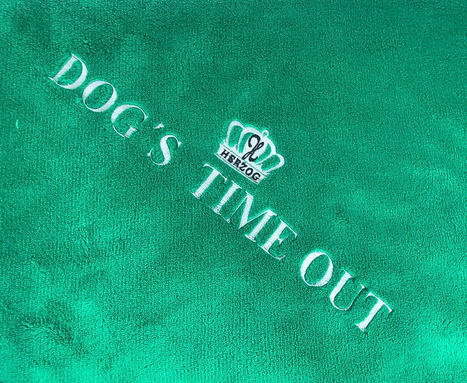 Dog's Time Out Blanket Green Silver