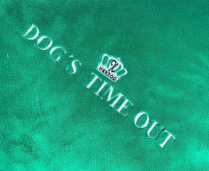 Dog's Time Out Decke Grün Silver