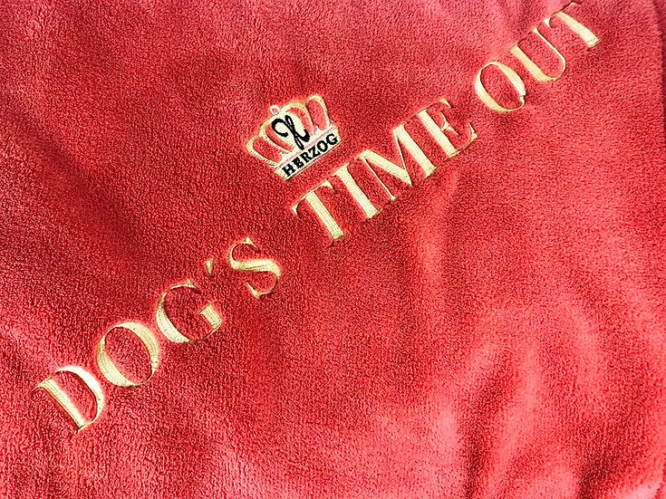 Dog's Time Out Decke Orange Gold