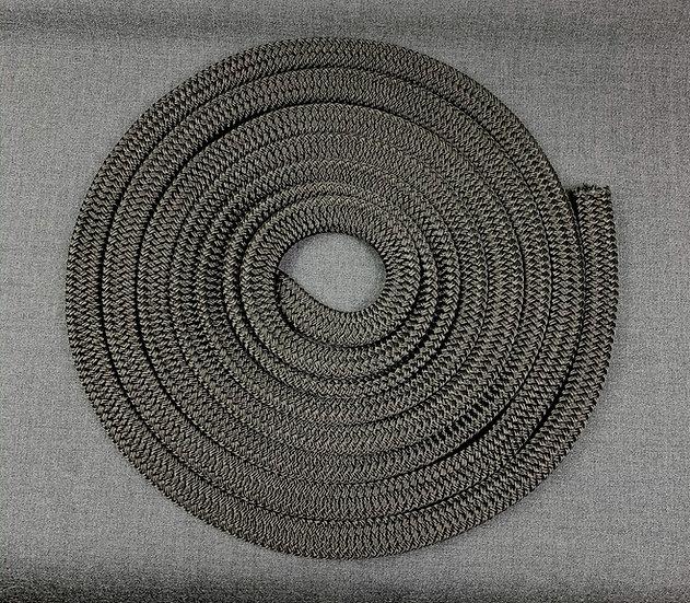 TAUTHANE - Flat rope black - RETRIEVER LEASH